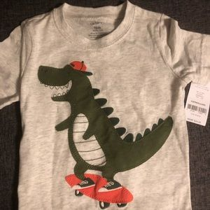 Brand New with Tag- Carter's Dino shirt Size 18M